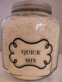 This is my everyday go to mix for biscuits, shortcake, coffee cake, scones and even a delicious self crusting quiche.  You can use this mix ...