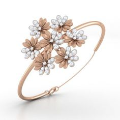 vine diamond bangle bracelet