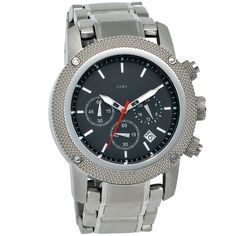 JOBO Herren-Armbanduhr Quarz Chronograph Edelstahl Mineralglas A32007