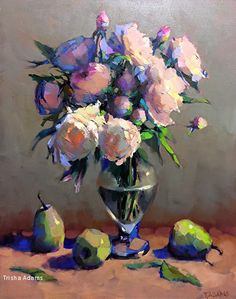 Peony Abundance by Trisha Adams Oil ~ 30 x 24