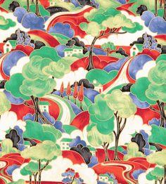 Clarice Cliff fabric