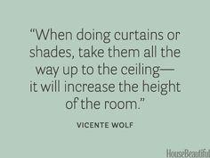 Curtain advice.
