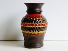 Vintage bay keramik ceramic vase West germany by vintage2remember, €28.00