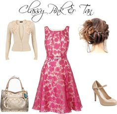"""Classy Pink & Tan"""