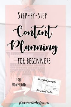 Planning for Social Media Step by step content planning for beginners. Plan your social media content using these worksheets and prompts.Step by step content planning for beginners. Plan your social media content using these worksheets and prompts. Marketing Logo, Plan Marketing, Social Media Marketing Business, Content Marketing Strategy, Marketing Quotes, Facebook Marketing, Internet Marketing, Online Marketing, Affiliate Marketing