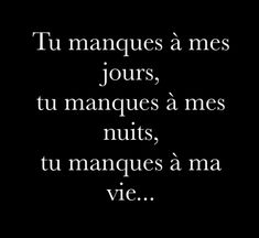 Tu me manques ♥️😔♥️😔 Heart Quotes, New Quotes, Love Quotes, Motivational Quotes, Funny Quotes, Family Quotes, Tu Me Manques, Morning Greetings Quotes, Quote Citation