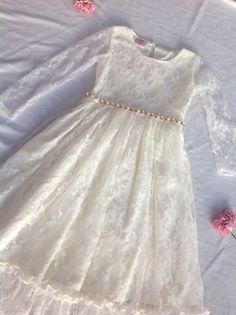 Blumenmädchen Kleid Elfenbein Blumenmädchen Kleid von Happy2sisters