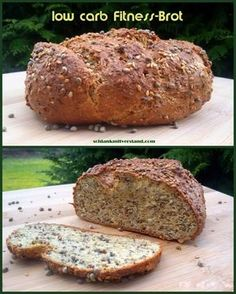 Low carb Fitnessbrot Eiweißpower für Low Carbler :-) Zutaten für ein kleines Brot (ca. 500g): 200 g Speisequark 1Ei 150 ml Wasser, heiß 25 g (2 EL) Chia Samen 25g (2 EL) Leinsamen 25 g (2 EL) Han…