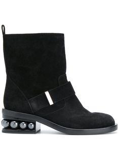 NICHOLAS KIRKWOOD | 56mm Casati pearl biker boots #Shoes #NICHOLAS KIRKWOOD