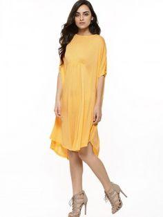 6f07269acf0 Buy Femella Lemon drop Jersey Tunic Dress for Girls Online in India