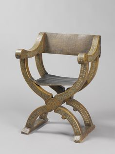 Merveilleux Folding Chair, Northern Italy, 1500   1600. Rijksmuseum, Public Domain