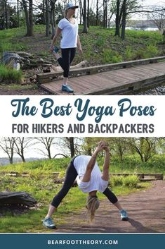 Learn how to use yoga for hiking. Here are the best yoga stretches & poses for hikers to keep your body safe, injury-free and pain-free on the trail. Yoga For Hiking, Hiking Tips, Camping And Hiking, Backpacking Tips, Camping Hacks, Ultralight Hiking, Running Tips, Trail Running, Beginner Yoga