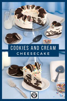 This no-bake cheesecake is inspired by the popular cookies-and-cream ice cream flavor. No Bake Desserts, Easy Desserts, Delicious Desserts, Yummy Food, Cookies And Cream Cheesecake, Cheesecake Recipes, Cheesecake Bars, Snack Recipes, Dessert Recipes