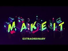 Adobe approached us to create the opening titles for their annual creative conference, Make It, isometric illustration by Shaivalini Kumar, an artist from New Dehli, India. Monospace, Calligraphy Text, 3d Typography, Lettering, Keys Art, Branding, Cool Animations, Artwork Design, Motion Design