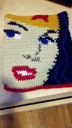 Comic Book Crochet Purse by MiscLyn on Etsy