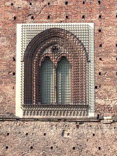 Castello Sforzesco Milano Italia particolare finestra