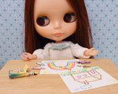 Miniature Dollhouse Crayon Set for Blythe, Barbie, Pullip, BJD 1:6 scale
