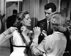 """""""Written on the Wind"""" (1956). Behind the scenes, with Rock Hudson."""