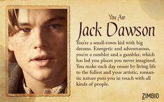 I'm Jack Dawson! Which 'Titanic' character are you? Titanic Movie Quotes, Titanic Funny, Real Titanic, Titanic History, Titanic Jack Dies, Titanic Boat, Titanic Tattoo, Titanic Behind The Scenes, Leonardo Dicapro