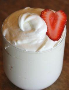 Fruit Dip.......cream cheese, marshmallow cream and powdered sugar.