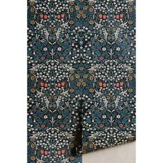 House of Hackney x William Morris Blackthorn Wallpaper ($398) ❤ liked on Polyvore featuring home, home decor, wallpaper, black motif, black wallpaper, paper wallpaper and black home decor