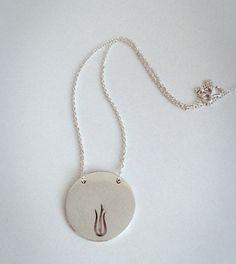 Tulip necklace on Etsy, $226.78 CAD