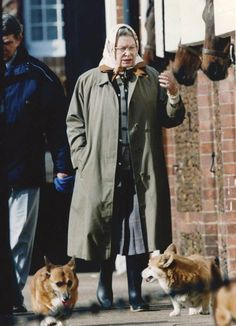 The Queen is said to walk her beloved pups every day