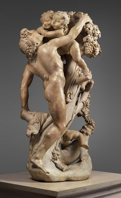 """Bacchanal: A Faun Teased By Children""  --  Circa 1616-17  --  Gian Lorenzo Bernini (Italian, 1598–1680) and Pietro Bernini (Italian, 1562–1629)  The Metropolitan Museum of Art"