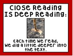 Read about some easy tips to get you started in Close Reading.