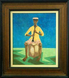 Clóvis Graciano, Flautista - ost. - dat. 1969 - med. 60 x 50 cm