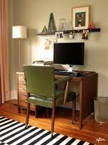 vintage desk small office home office - Google Search