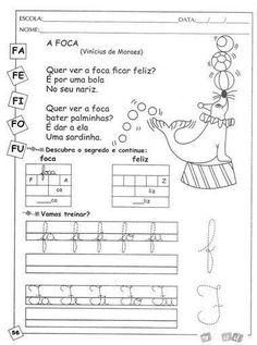 Resultado de imagem para atividade de educaçao infantil portugues ENCONTRO CONSONANTAL FA FE FI FO FU