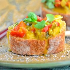 Gluten-Free Bruschetta via @Susan Caron Shindel #vegan #dairyfree #glutenfree #celiac #Thanksgiving #Christmas #appetizer #holidays