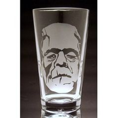 Frankenstein Etched Pint Glass