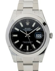 Rolex Datejust II 116300, Bracelet Material: Steel Oyster, Case Material: Steel, Case size: 41 MM, Dialtype: Black Baton, Gender: Unisex, Movement: Automatic