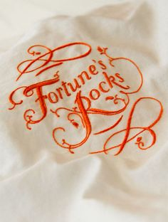 Fortune's Rocks - embroidered book cover by MaricorMaricar , via Behance