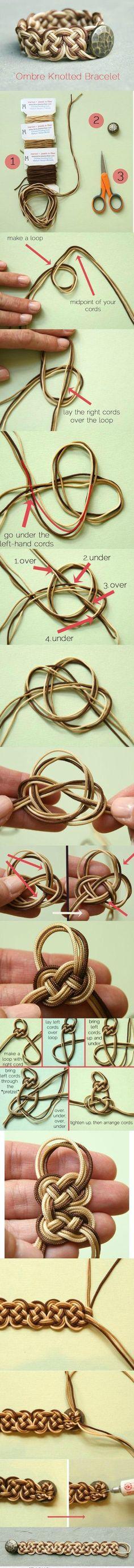 Ombre knotted bracelet.