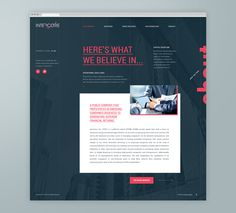 Intercore by Phoenix, the Creative Studio, via Behance Looks like this design is based off of PHP script.