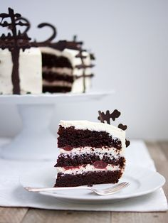 Obrázek z Recept - Schwarzwaldský dort - black forrest cake Torte Recipe, Black Forest Cake, Sweet Recipes, Tiramisu, Easy Meals, Food And Drink, Sweets, Chocolate, Baking