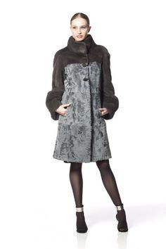 Braschi Dyed Mink and Swakara Lamb Fur Coat