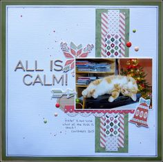 scrapbooking - for the love of paper: Christmas Layouts.