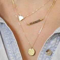 Attractive Solid Color Sequins Embellished Multi-Layered Women's Necklace, GOLDEN in Necklaces | DressLily.com