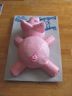 pig cake Pig Birthday Cakes, Farm Birthday, Birthday Ideas, Pig Cakes, Cupcake Cakes, Pig Pig, Cake Decorating, Decorating Ideas, Pig Stuff