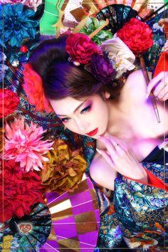 妖艶に酔える空間の中で…ユイ様  心のフォトブログ~京都の舞妓・花魁体験、着物レンタル、変身写真スタジオ~