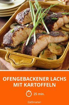 Ofengebackener Lachs mit Kartoffeln - smarter - Zeit: 25 Min. | eatsmarter.de