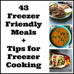 43 Freezer Friendly Recipes + Tips for Freezer Cooking from A Cedar Spoon --a great way to stock your freezer for the busy days!