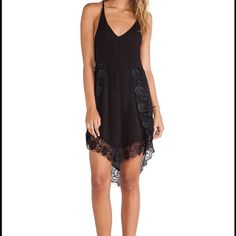 FREE PEOPLE Eyelashes Slip Dress I am looking to trade for another color for my mom, she doesn't want to black. She already has gold :) Free People Dresses Mini