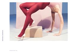 Bionda Castana 'Gia' Ivory Heel spring 2016 campaign Photoshoot