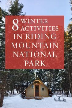 8 amazing winter adventures to have in Riding Mountain National Park Riding Mountain National Park, Mountain Park, Clear Lake Manitoba, Northern Lights Tours, Explore Travel, Winter Activities, Canada Travel, Go Camping, Amazing Things