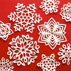 Kirigami Snowflakes Templates by Omiyage Blogs